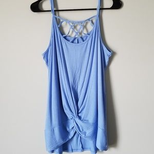 NWT Baby Blue Cage Front Cami